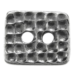 Rectangle Hammertone BUTTON PEWTER tone