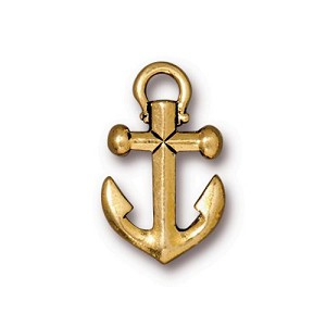 Anchor Drop Pendant SMALL ANT GOLD