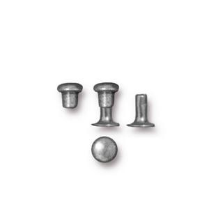4mm Rivet Set PEWTER - per 10 pieces