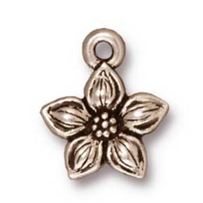 star jasmine charm ANTIQUE SILVER