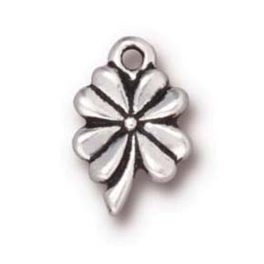 4 leaf clover charm ANTIQUE SILVER