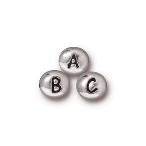 small alpha bead KIT SILVER TONE