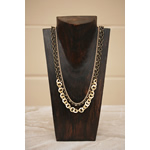 Multi Strand Hammered Washer Necklace