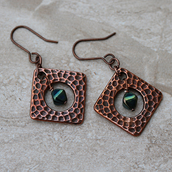 Copper Green Earrings