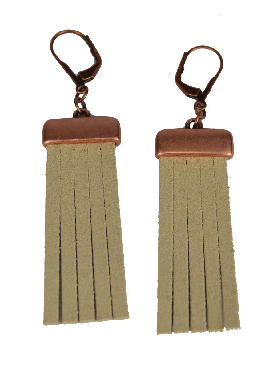 Copper Fringe Earrings