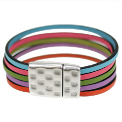 Rainbow Leather Bracelet