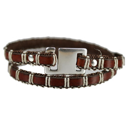 8mm Brown Leather with Cord