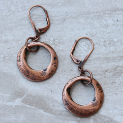 Copper Hammered Rings