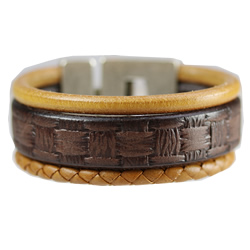 Dakota and Round Leather Bracelet