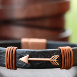 Dakota Leather with Dainty Arrow