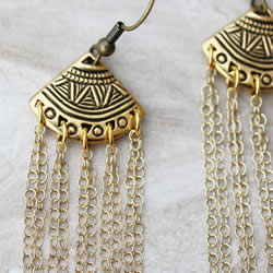 Ethnic Fan Earrings