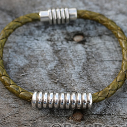 Olive Green Braided Bracelet