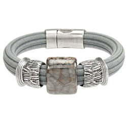 Grey Regaliz Bracelet with Ceramic
