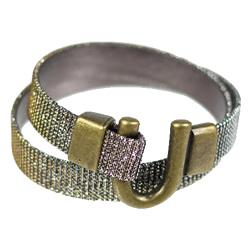 Iridescent Horseshoe Wrap Bracelet