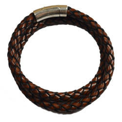 Men's Brown Braided Bracelet