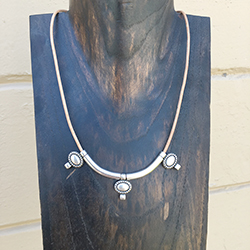 Silver and Cream Necklace