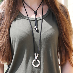 Black Suede Necklace
