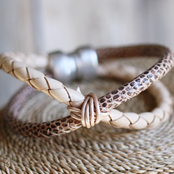 Braided Lizard X Bracelet