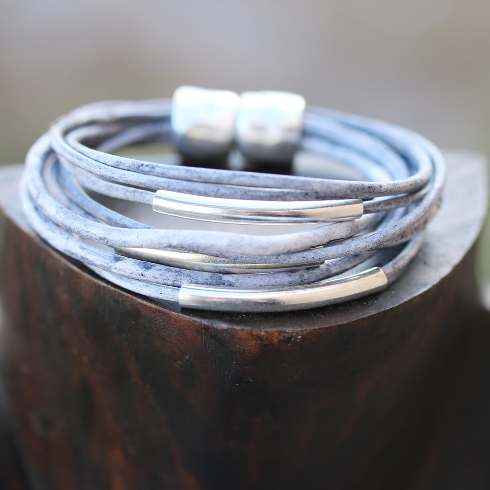 Multi Wrap Weathered Bracelet