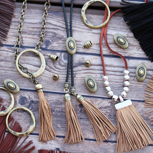 Suede Fringe Necklaces
