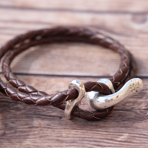 Twisted Braided Leather Bracelet