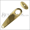 MINI Long Oval Toggle Clasp SHINY GOLD - per 10 pieces