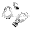 10mm flat SMOOTH KEYHOLE clasp ANT SILVER - 10 clasps
