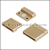20mm flat ACRYLIC magnet MATTE GOLD - per 10 clasps