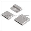 20mm flat ACRYLIC magnet PEWTER - per 10 clasps