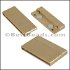 40mm flat ACRYLIC magnet MATTE GOLD - per 10 clasps