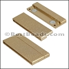 50mm flat ACRYLIC magnet MATTE GOLD - per 5 clasps