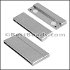 50mm flat ACRYLIC magnet PEWTER - per 5 clasps