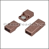 5mm flat ACRYLIC magnet COPPER - per 10 clasps