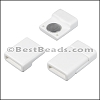10mm flat ACRYLIC magnet WHITE - per 10 clasps