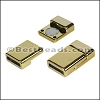10mm flat ACRYLIC magnet GOLD - per 10 clasps