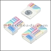 10mm flat ACRYLIC PATTERN magnet STYLE 12 - per 10 clasps