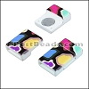 10mm flat ACRYLIC PATTERN magnet STYLE 13 - per 10 clasps