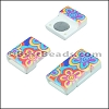 10mm flat ACRYLIC PATTERN magnet STYLE 14 - per 10 clasps