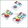 10mm flat ACRYLIC PATTERN magnet STYLE 15 - per 10 clasps
