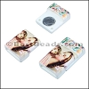 10mm flat ACRYLIC PATTERN magnet STYLE 17 - per 10 clasps