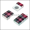 10mm flat ACRYLIC PATTERN magnet STYLE 18 - per 10 clasps