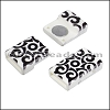 10mm flat ACRYLIC PATTERN magnet STYLE 1 - per 10 clasps