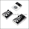 10mm flat ACRYLIC PATTERN magnet STYLE 2 - per 10 clasps