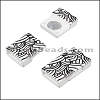 10mm flat ACRYLIC PATTERN magnet STYLE 4 - per 10 clasps