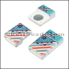 10mm flat ACRYLIC PATTERN magnet STYLE 7 - per 10 clasps