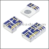 10mm flat ACRYLIC PATTERN magnet STYLE 9 - per 10 clasps