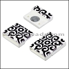 15mm flat ACRYLIC PATTERN magnet STYLE 1 - per 10 clasps