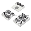 15mm flat ACRYLIC PATTERN magnet STYLE 4 - per 10 clasps