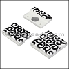 20mm flat ACRYLIC PATTERN magnet STYLE 1 - per 10 clasps