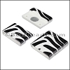 20mm flat ACRYLIC PATTERN magnet STYLE 2 - per 10 clasps